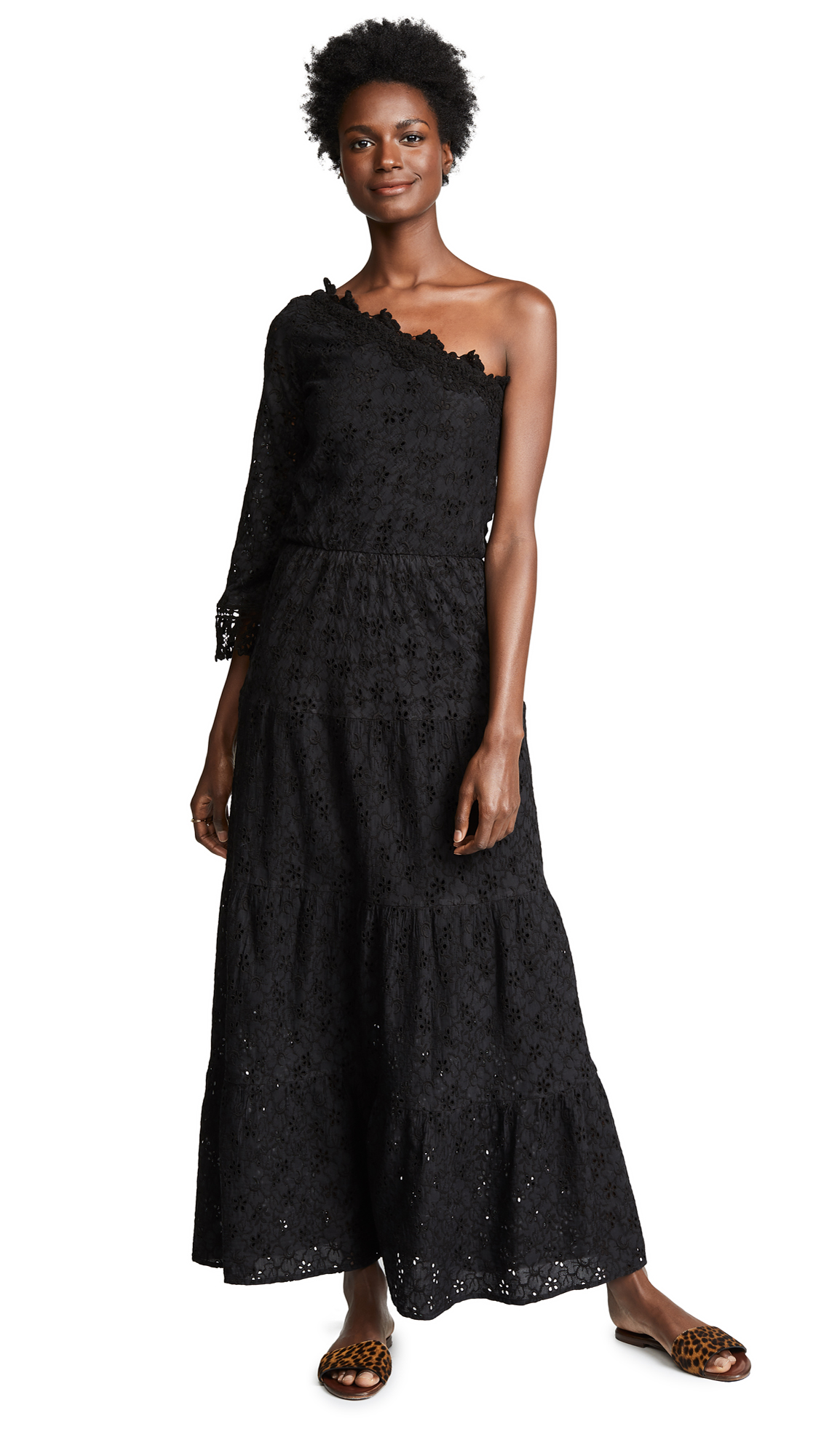 Temptation Positano Sumatra One Sleeve Maxi Dress - Black