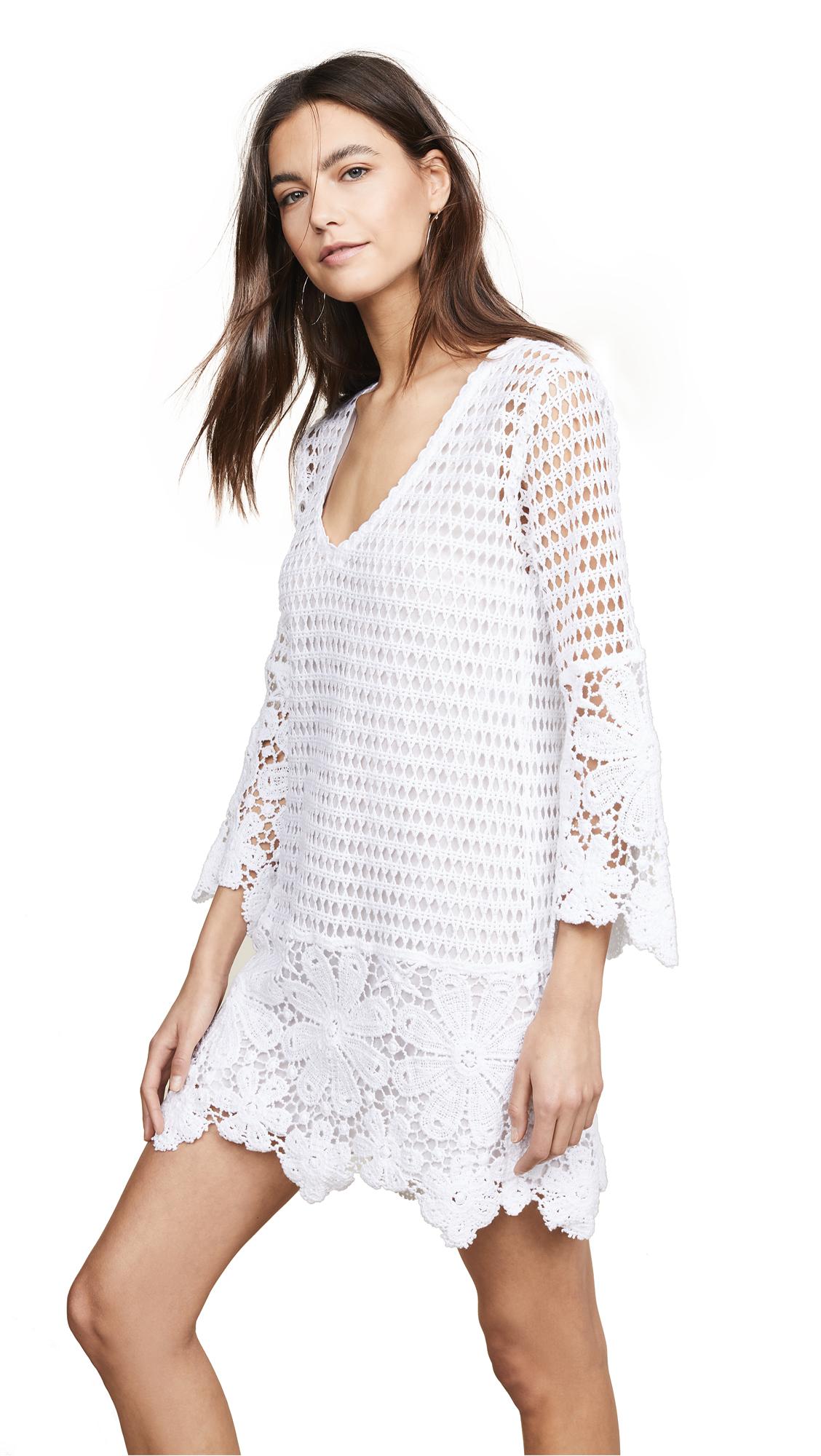 8655d064f3 Temptation Positano Cosenza Retro Crochet Dress