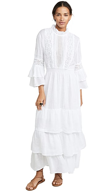 Photo of  Temptation Positano Linen Crew Neck Bell Sleeve Dress - shop Temptation Positano dresses online sales