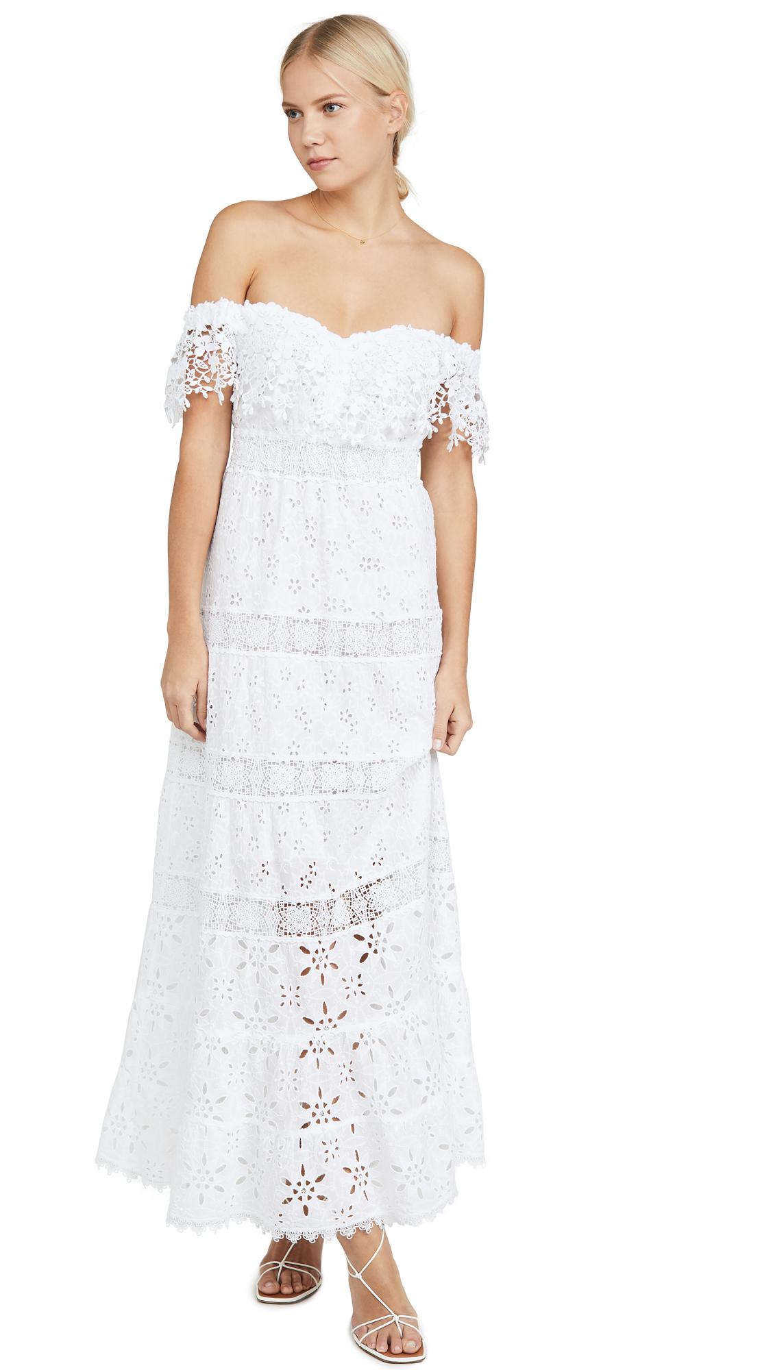 Buy Temptation Positano Off Shoulder Macrame Long Dress online beautiful Temptation Positano Clothing, Dresses