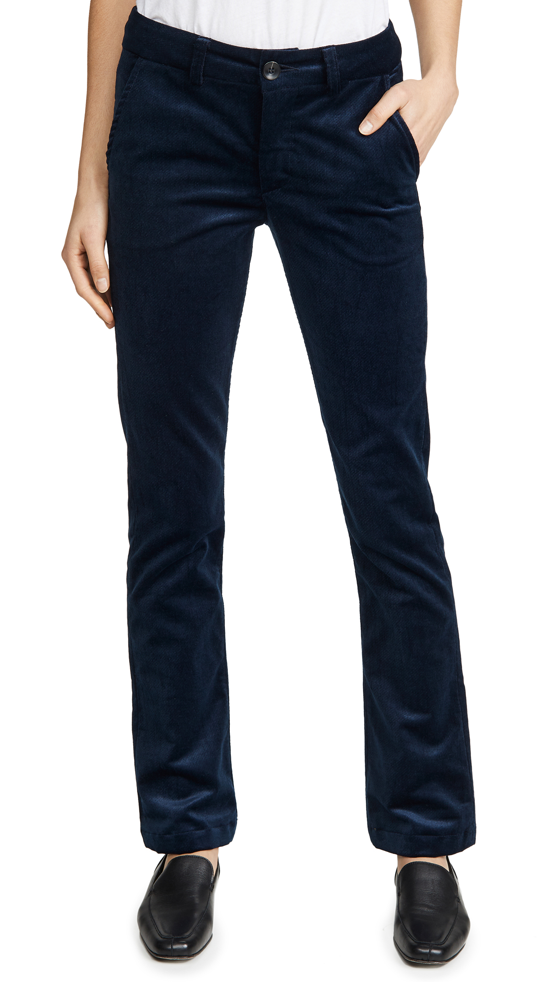 Buy TRAVE online - photo of TRAVE Sloan Velvet Pants