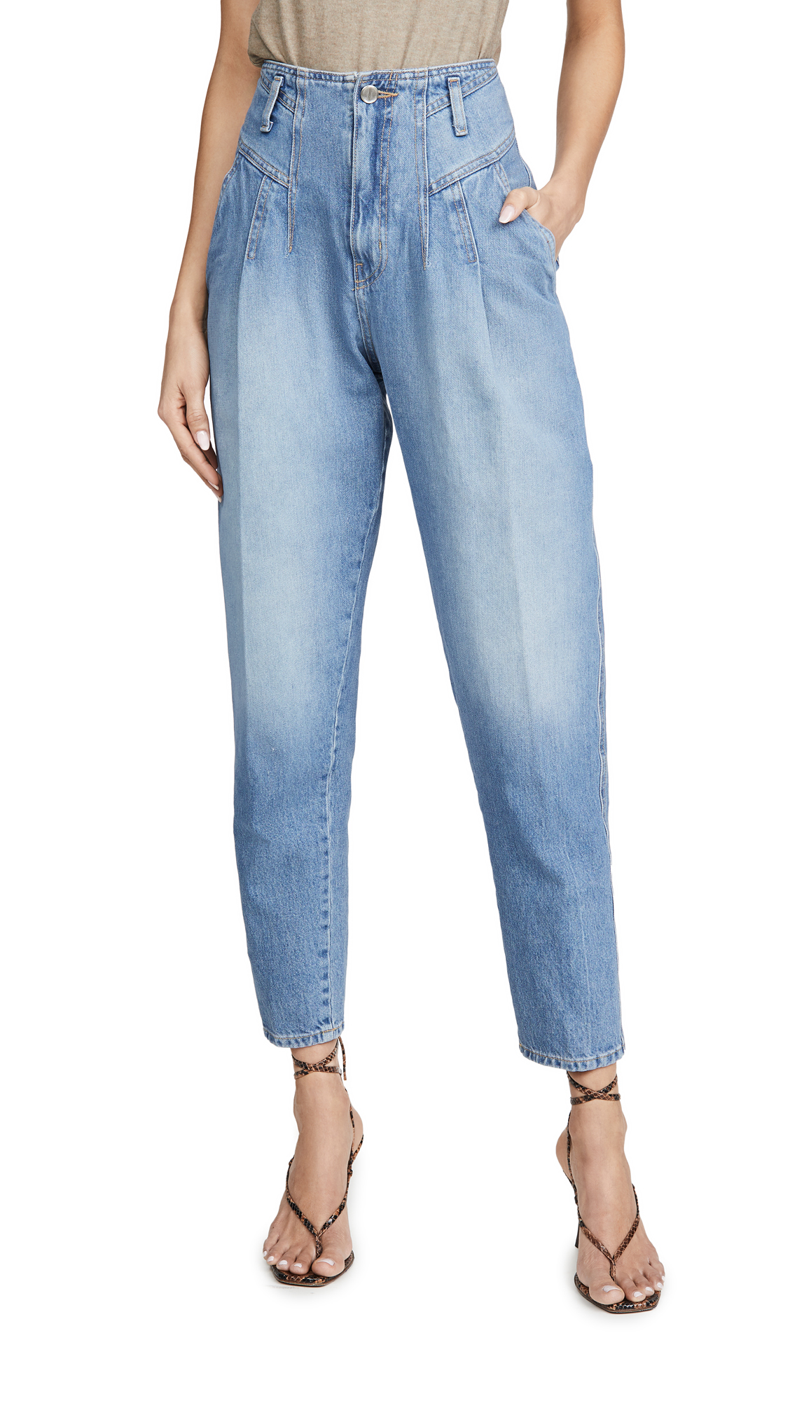 Buy TRE by Natalie Ratabesi online - photo of TRE by Natalie Ratabesi Blue Wash Jeans