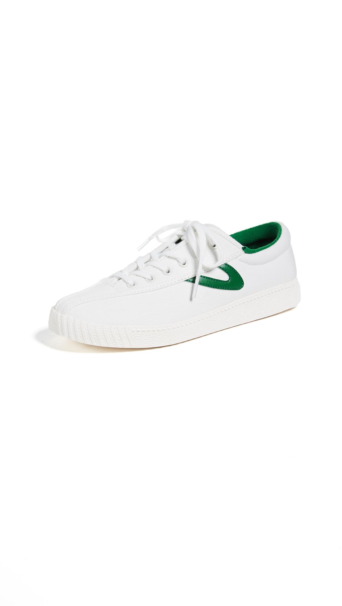 Tretorn Nylite Sneakers - Vintage White/Green