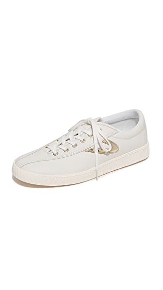Tretorn Nylite 2 Sneakers In Snow White/Gold