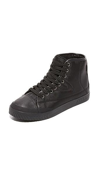 Tretorn Baily4 High Top Sneakers - Black/Black/Black