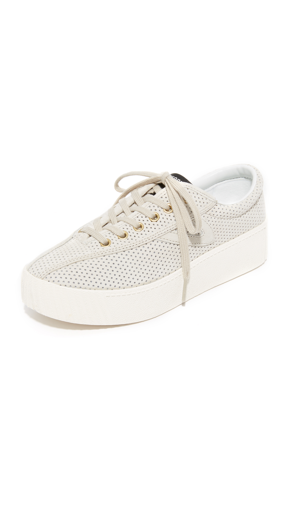 Tretorn Nylite Bold III Perforated Platform Sneakers - Sand