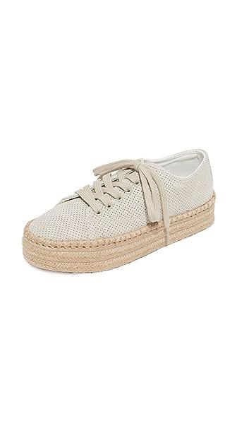Tretorn Eve Suede Espadrille Sneakers - Sand