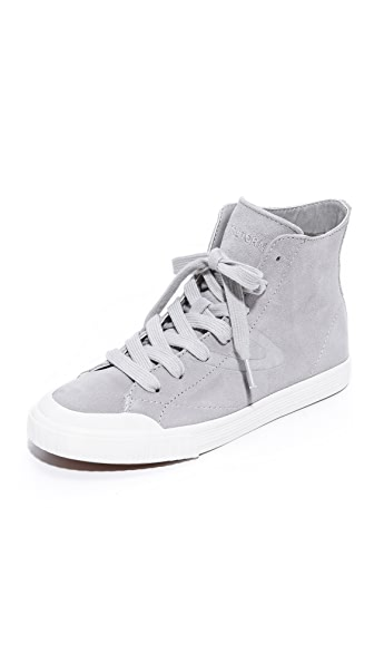 Tretorn Marley High Top Sneakers - Light Grey/Light Grey