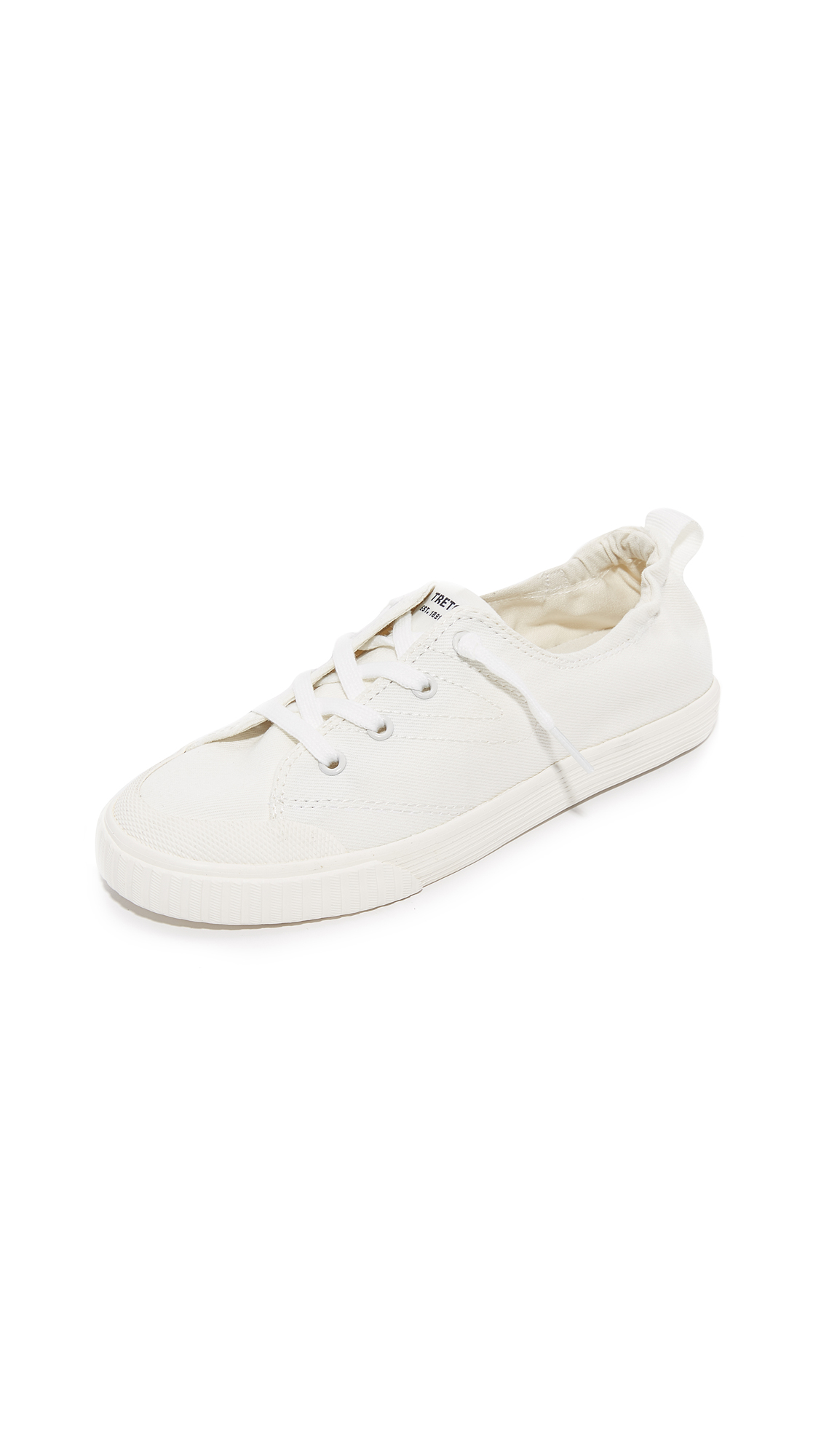 Tretorn Meg Denim Sneakers - Vintage White