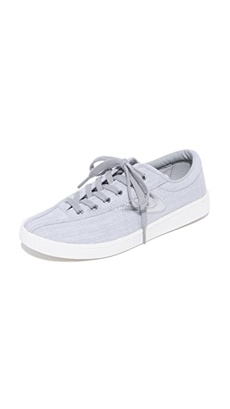 Tretorn Nylite Plus Linen Sneakers In Grey Multi/Grey Multi/Silver