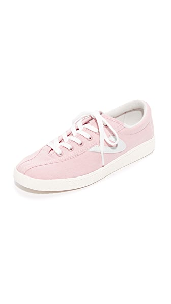 Tretorn Nylite Plus Chambray Sneakers - Pink/White