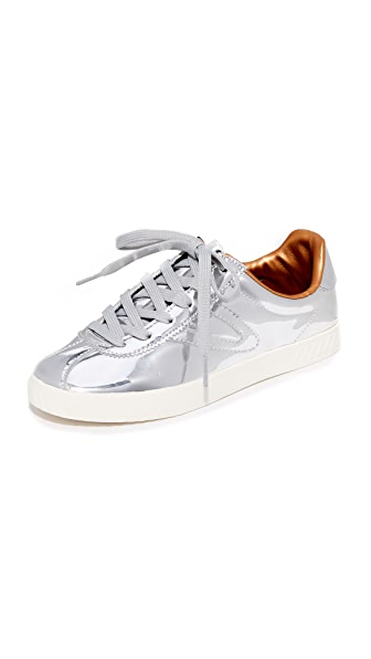 Tretorn Camden II Metallic Sneakers In Silver