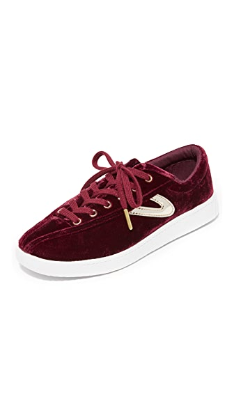 Tretorn Nylite Plus Velvet Sneakers In Rubino/Platino