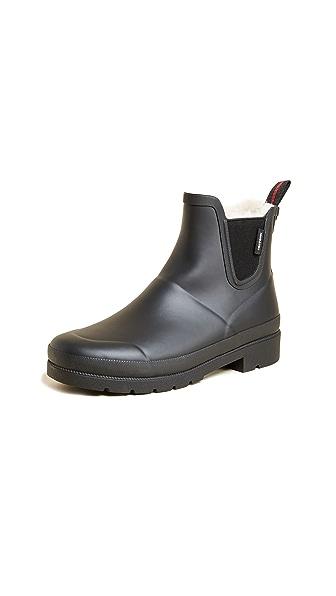 Tretorn Lina Faux Fur Rain Booties In Black Black Modesens