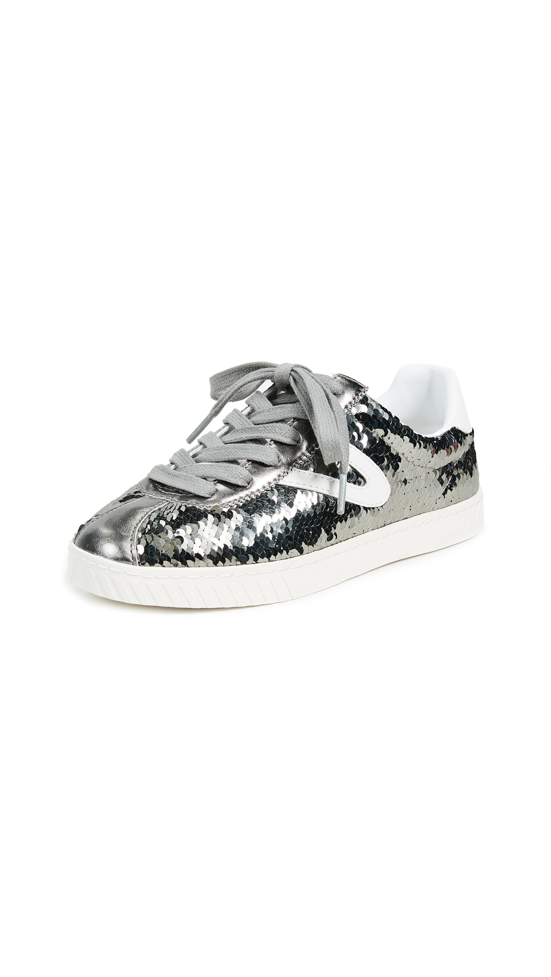 Tretorn Camden Metallic Lace Up Sneakers - Silver