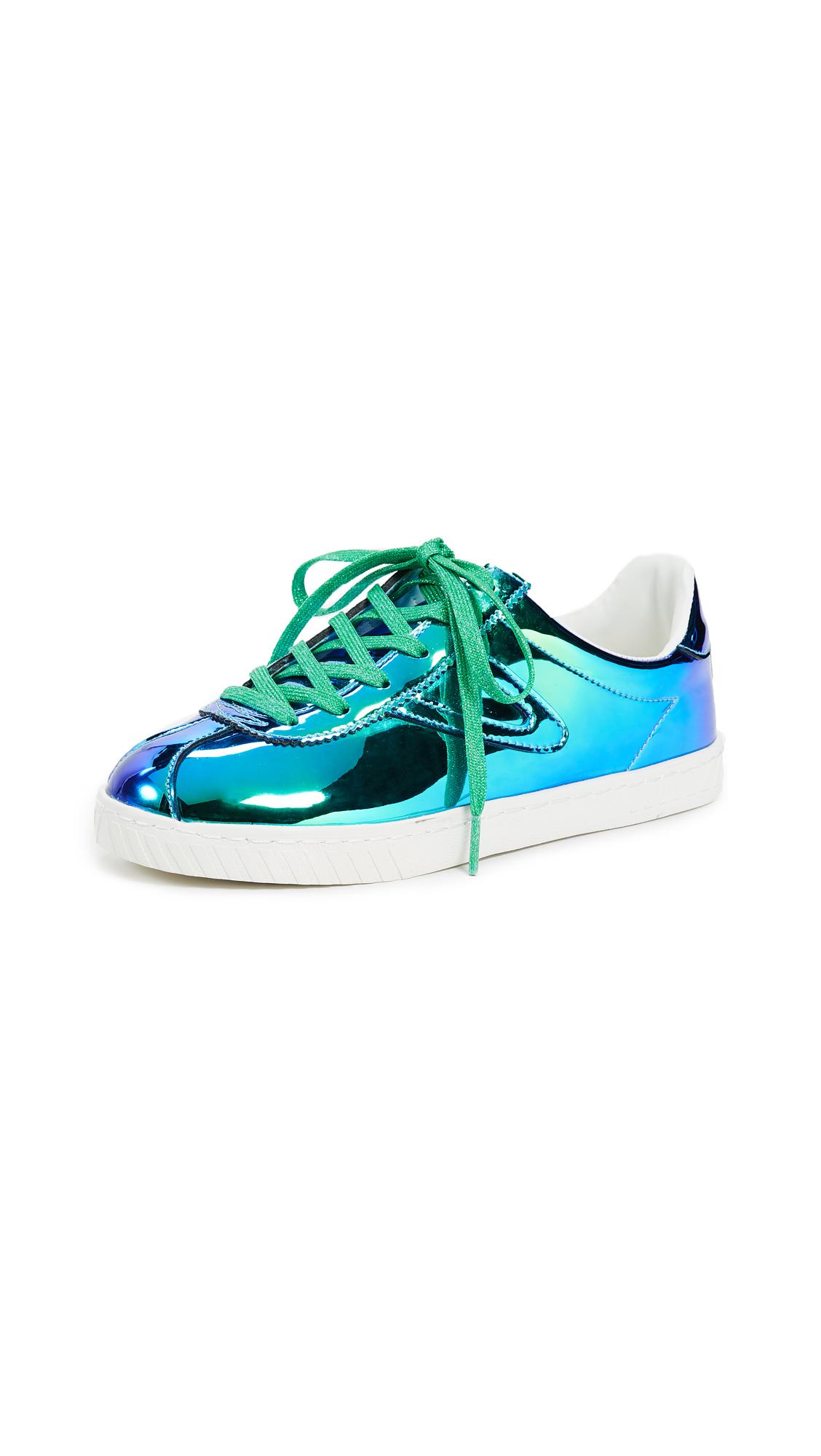 Tretorn Camden Iridescent Lace Up Sneakers - Medium Blue