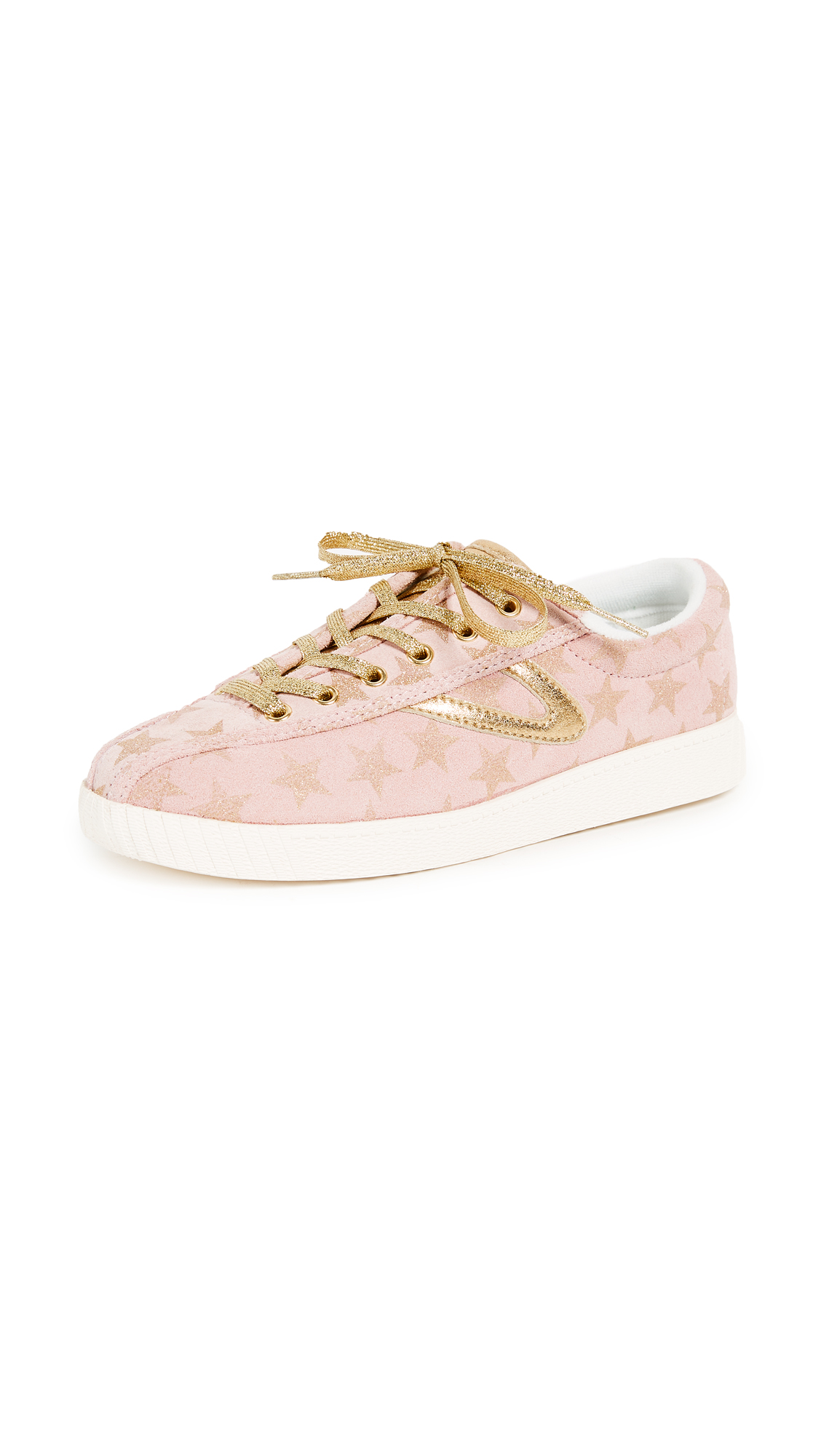 Tretorn Nylite Plus Star Sneakers - Blush/Gold