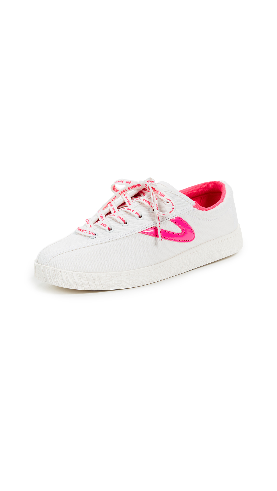 Tretorn Nylite Plus Lace Up Sneakers - Neon Pink