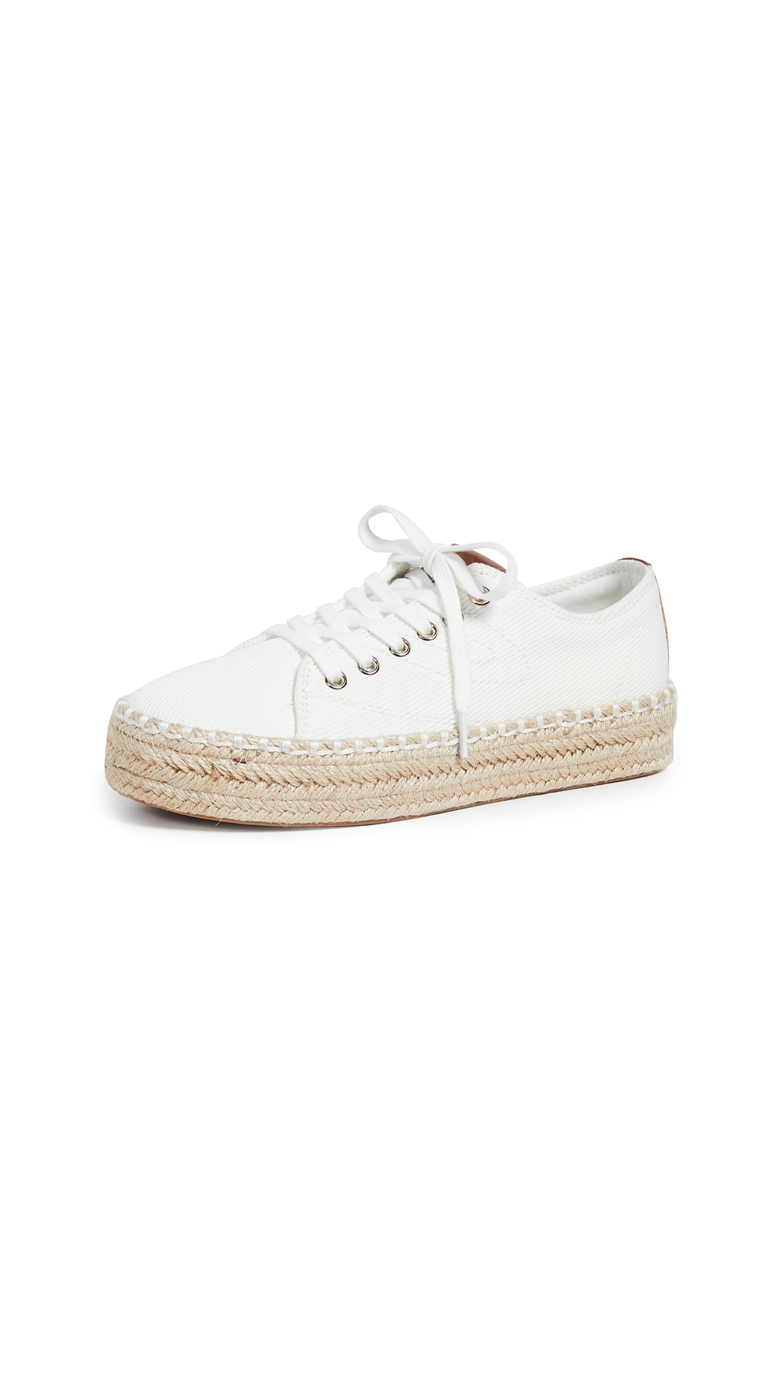 Tretorn Eve Lace Up Espadrille Sneakers - Vintage White