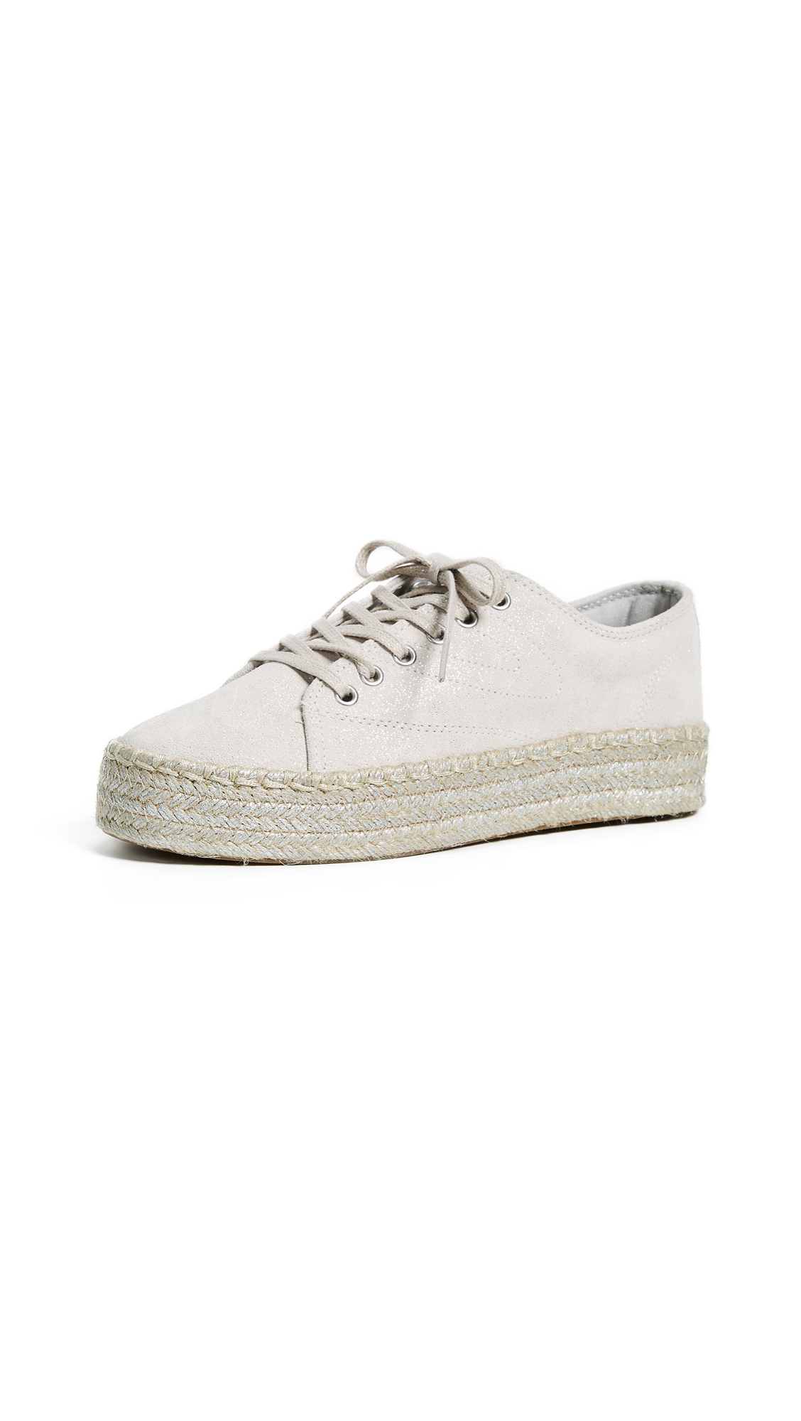 Tretorn Eve Lace Up Espadrille Sneakers - Birch/Silver