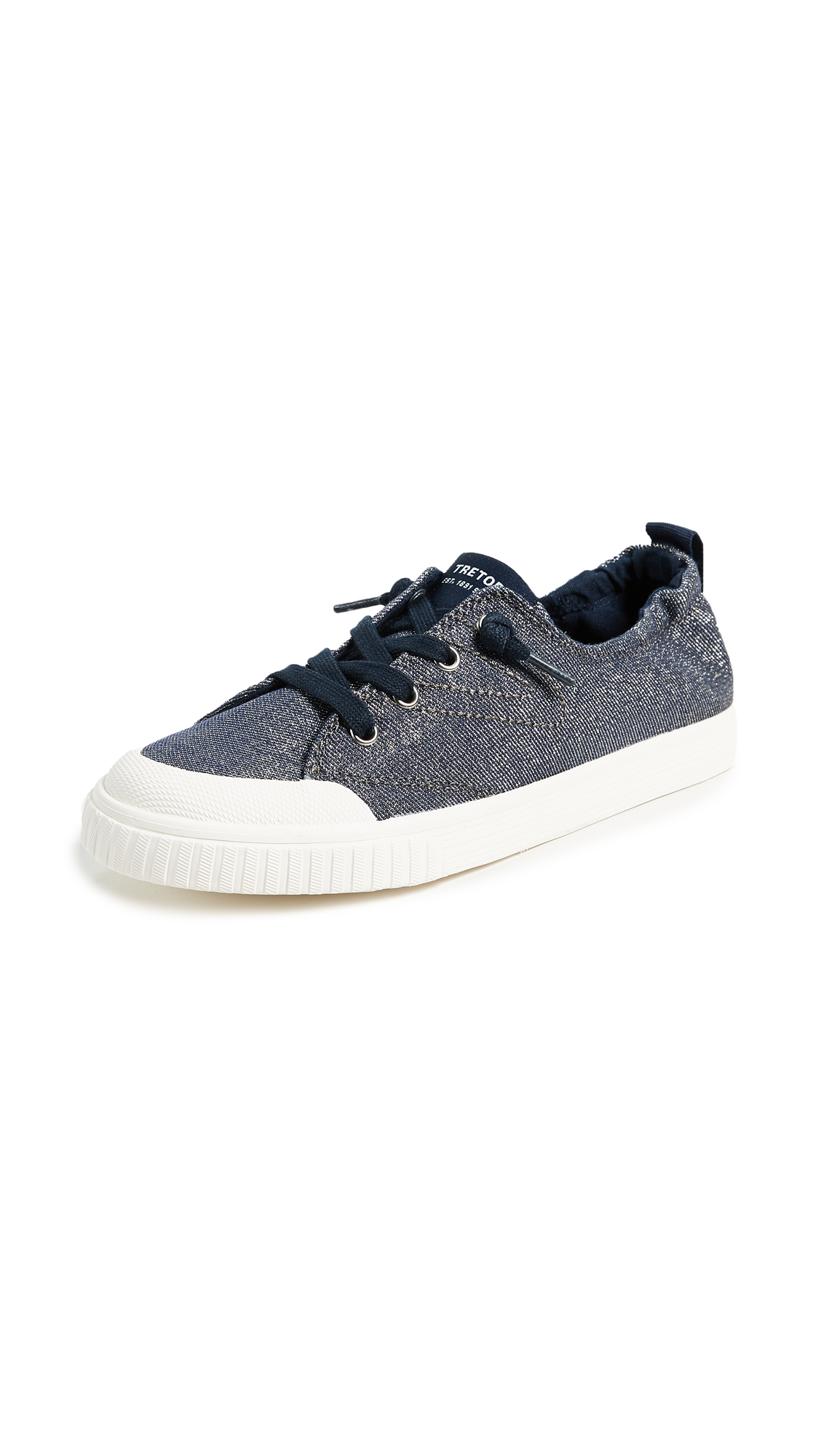 Tretorn Meg Laceup Sneakers - Dark Blue