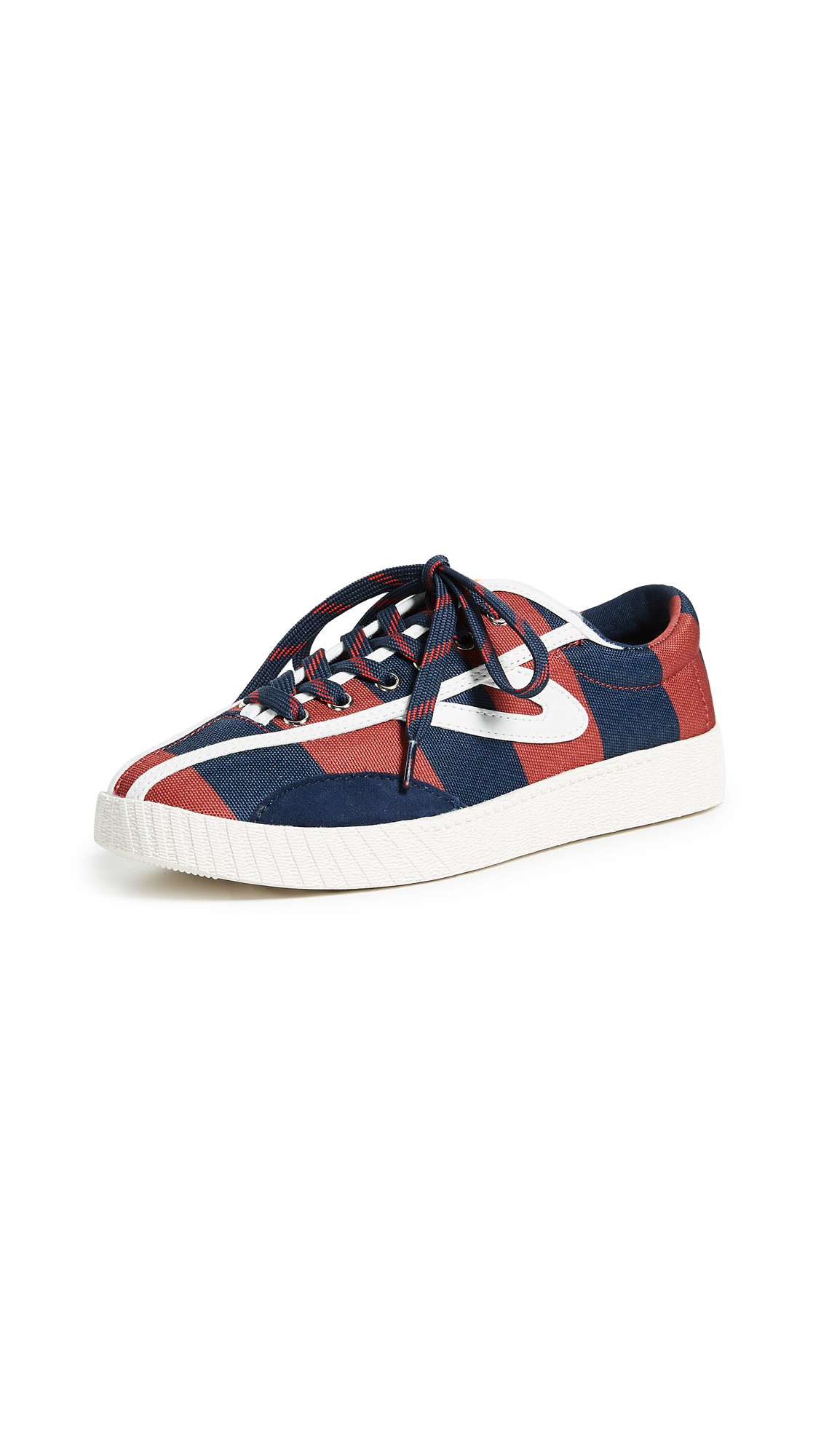 Tretorn x Andre 3000 Rugby Stripe Sneakers - Night/Chili Pepper