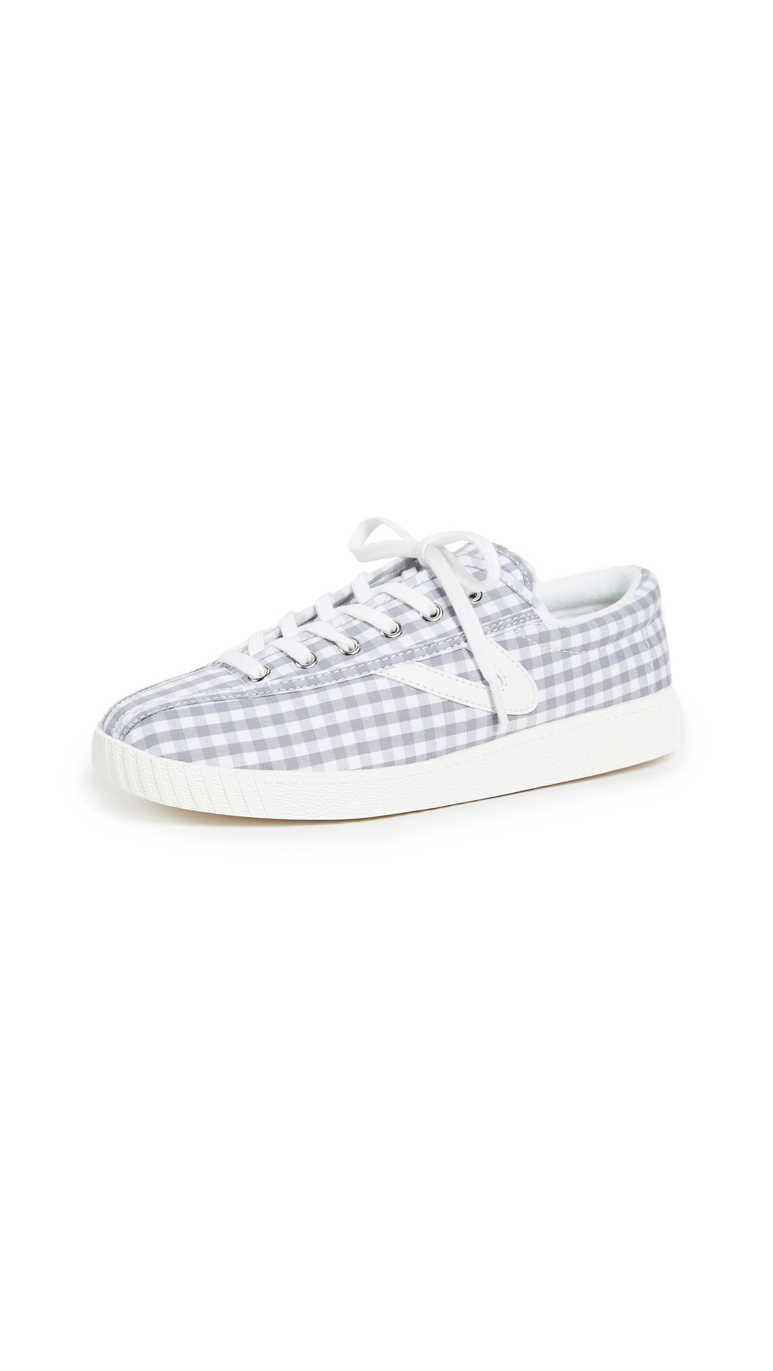 Tretorn Nylite Gingham Sneakers - Grey/White