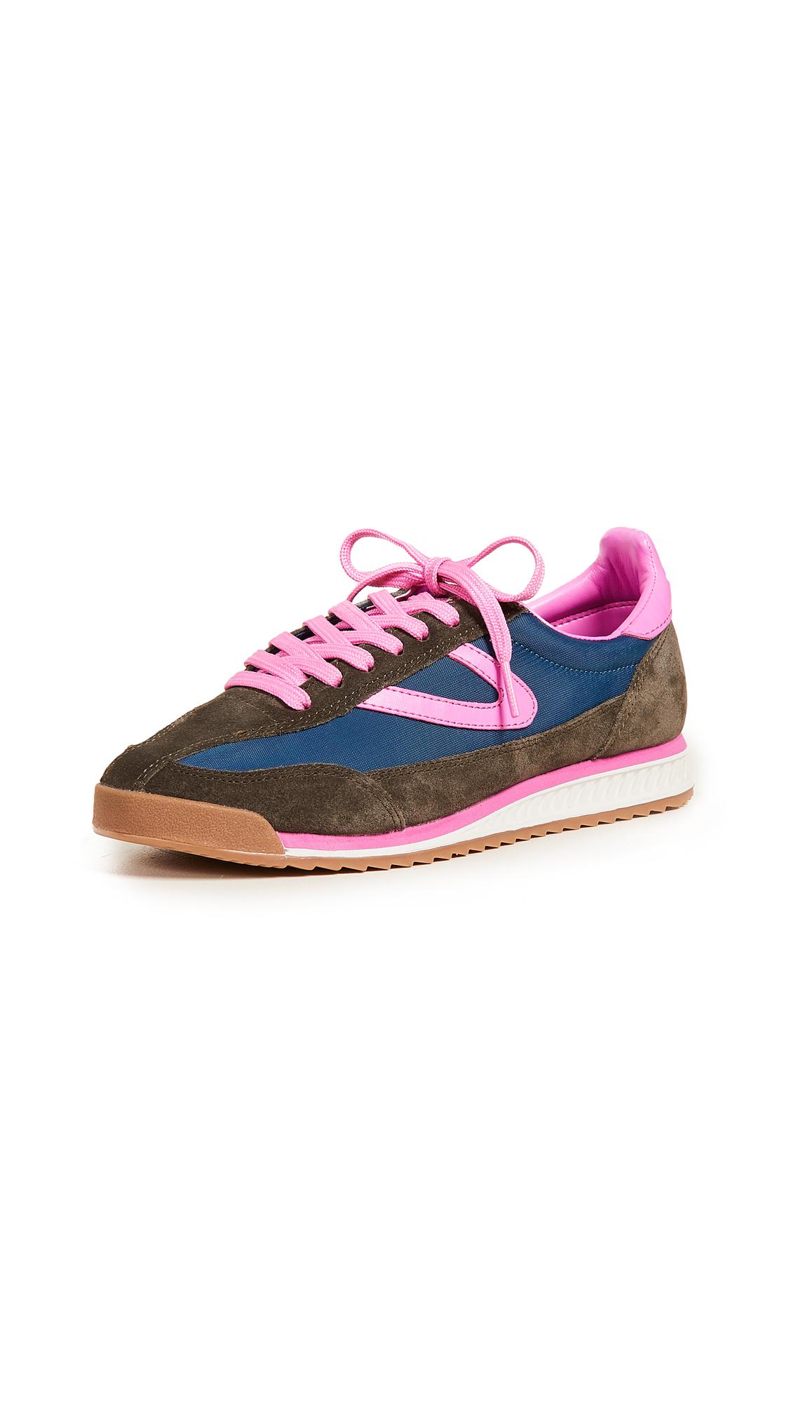 Tretorn Rawlins III Jogger Sneakers - Ivy/Blue/Fuchsia