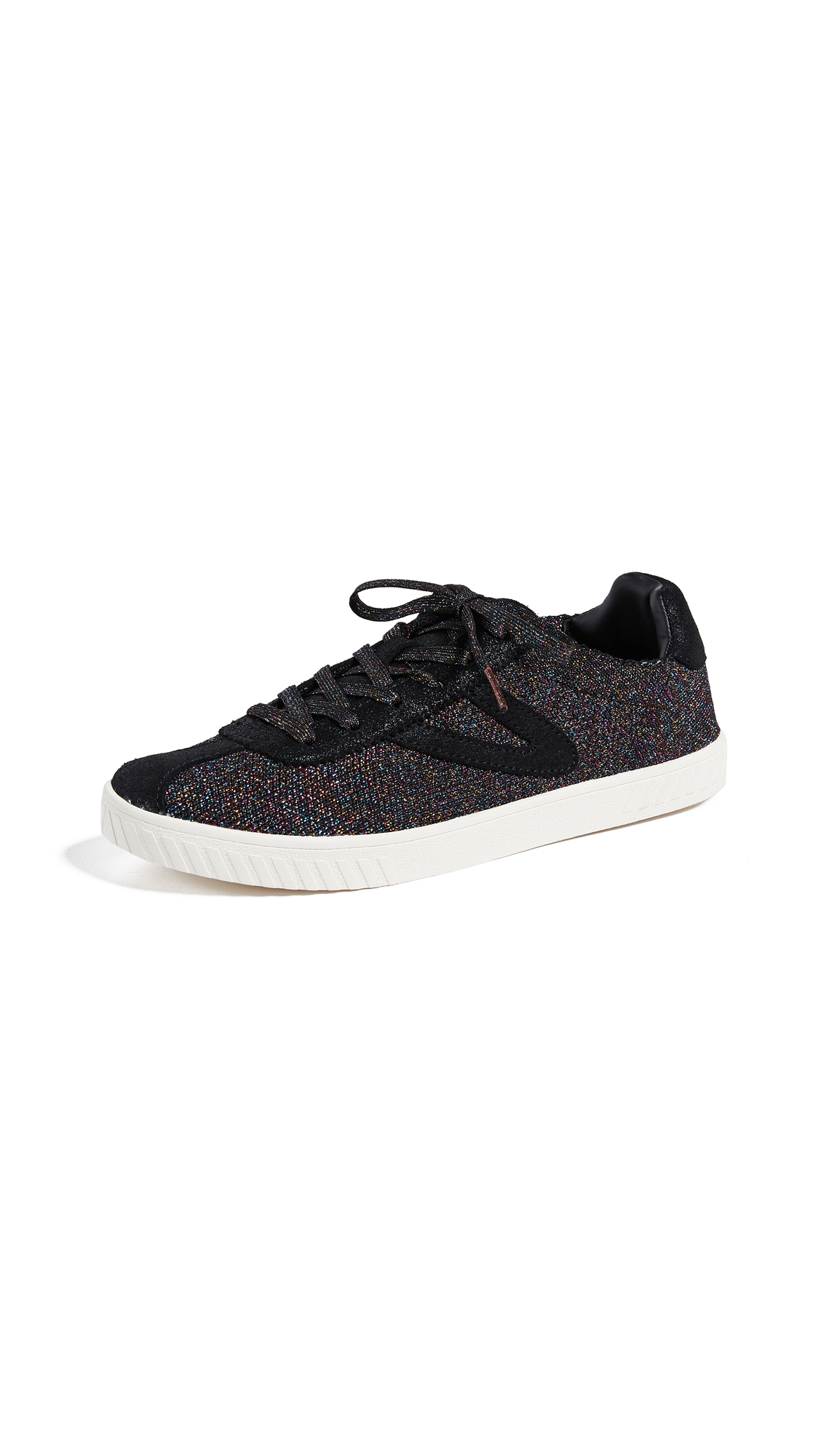 Tretorn Camden Lace Up Glitter Sneakers - Black Multi/Black