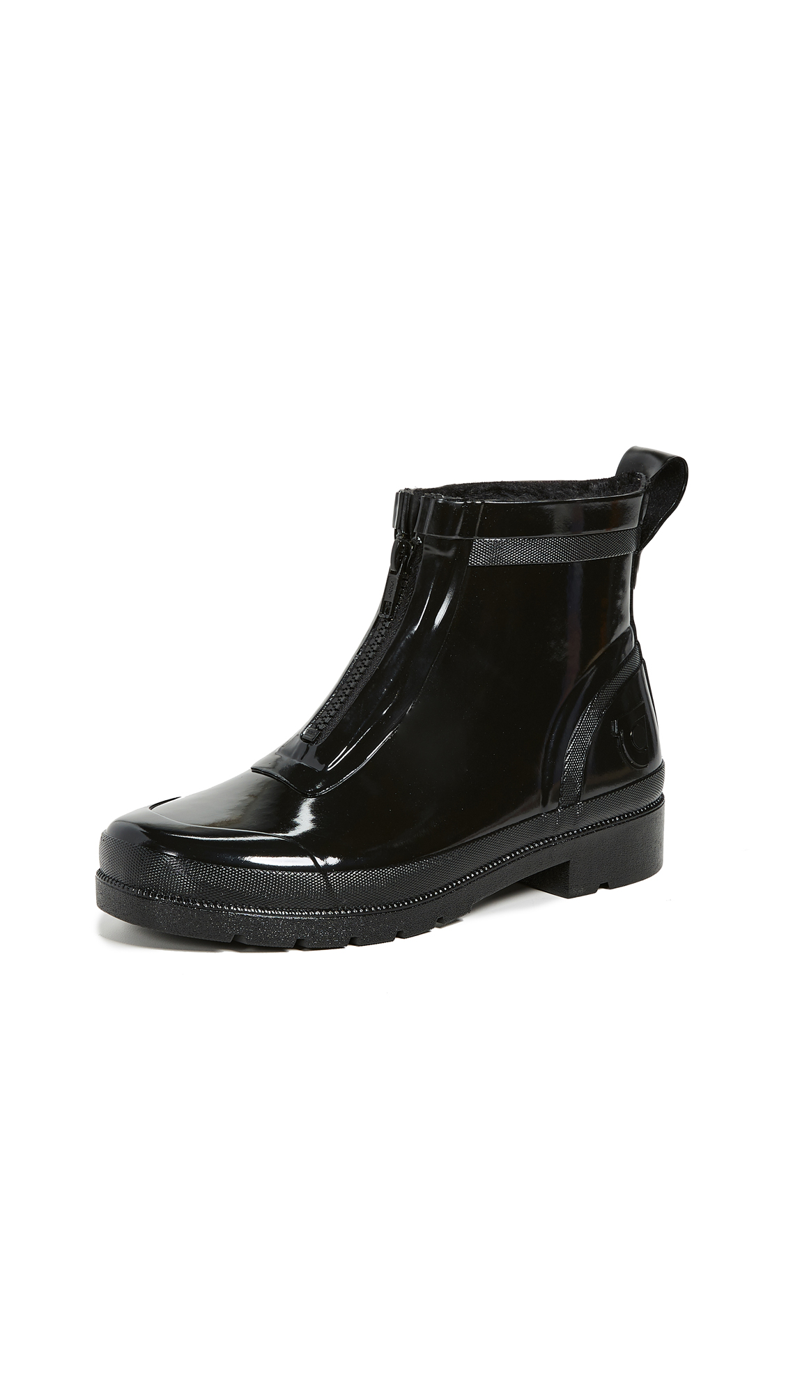Tretorn Lina Zip Rain Boots In Black
