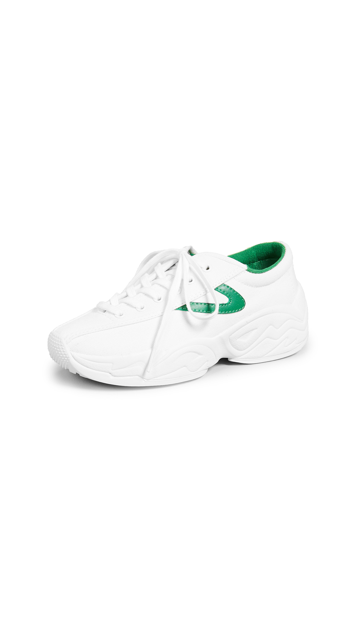 Tretorn Nylite Fly Sneakers - Vintage White/Green