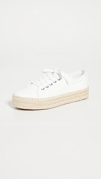 Tretorn Women's Eve Low-top Platform Espadrille Sneakers In Vintage White