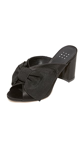 Trademark Madeleine Mules with Bow - Black