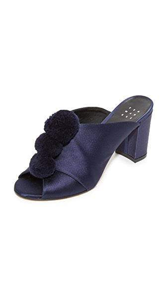 Trademark Pom Pom Mules - Midnight