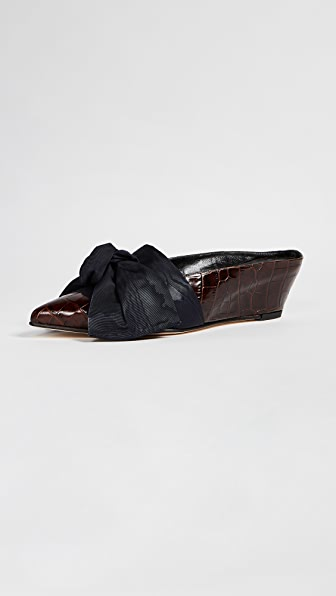 Trademark Adrien Tie Mules - Chocolate Brown
