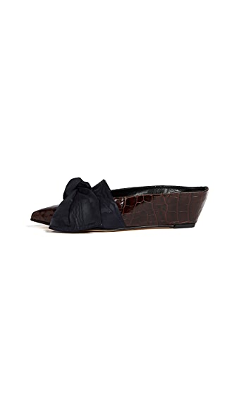 Trademark Adrien Tie Mules In Chocolate Brown