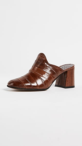 Trademark Frances Heeled Mules - Tobacco