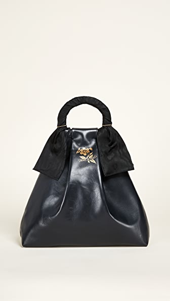 Trademark Asawa Nappa Shopper Tote - Navy