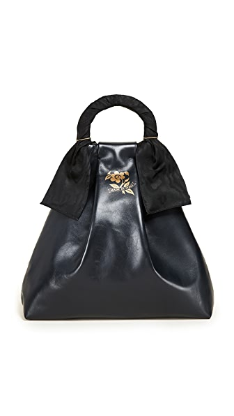 Trademark Asawa Nappa Shopper Tote In Navy