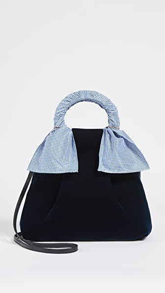 Trademark Hazel Velvet Shopper Bag - Navy
