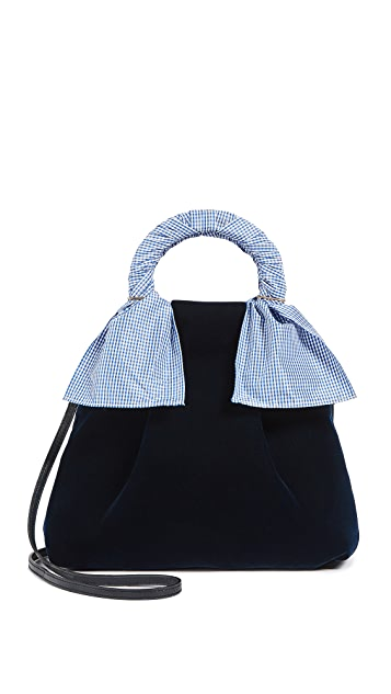 Trademark Hazel Velvet Shopper Bag