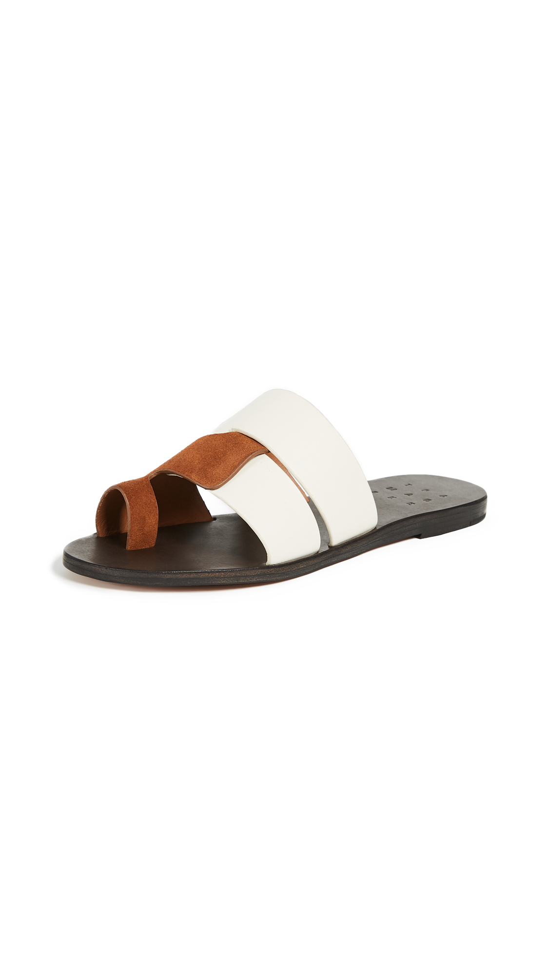 Trademark Cadiz Sandals - White/Saddle