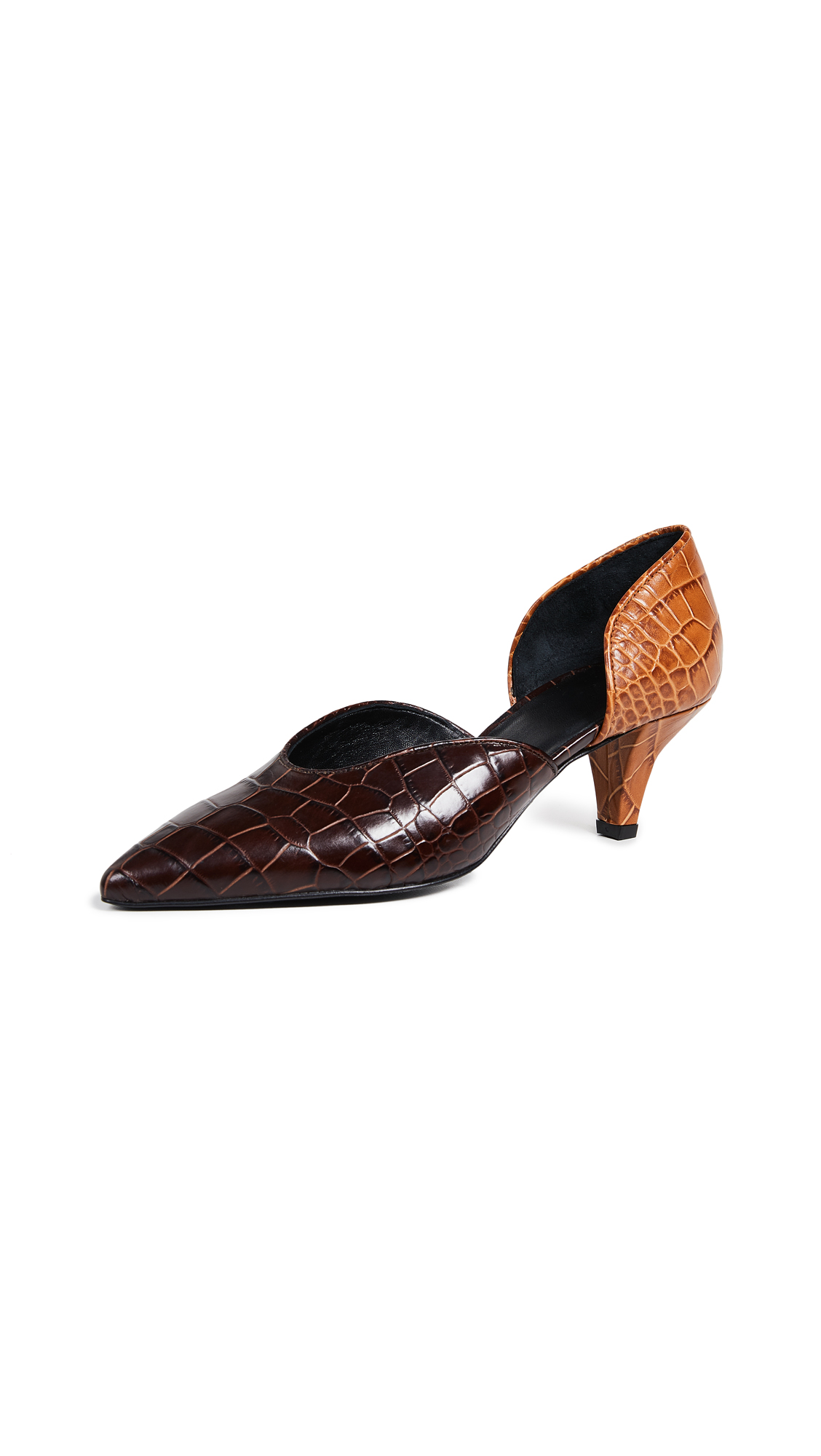 Trademark Ruby d'Orsay Pumps In Chocolate