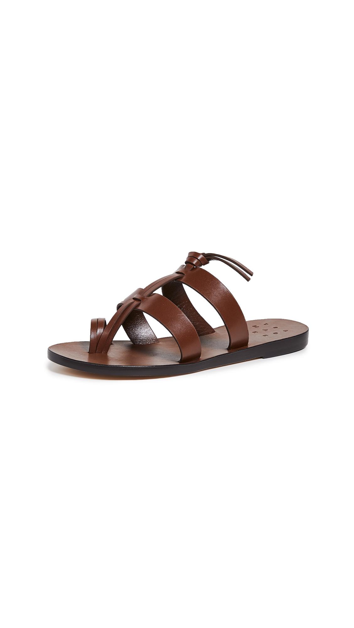 Trademark Capra Toe Ring Sandals - Saddle
