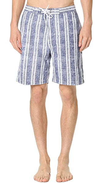 "Trunks Swami 8"" Chambray Stripe Trunks"