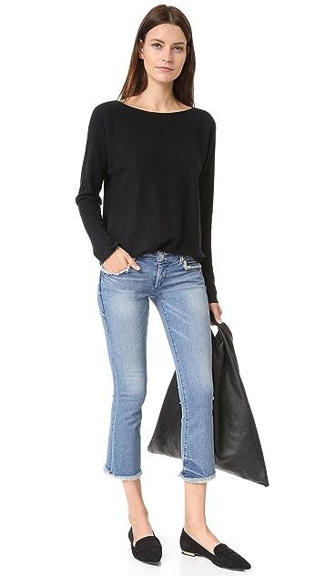 True Religion Karlie Bell Bottom Crop Jeans