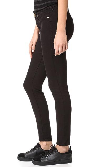 True Religion Jennie Curvy Mid Rise Super Skinny Jeans