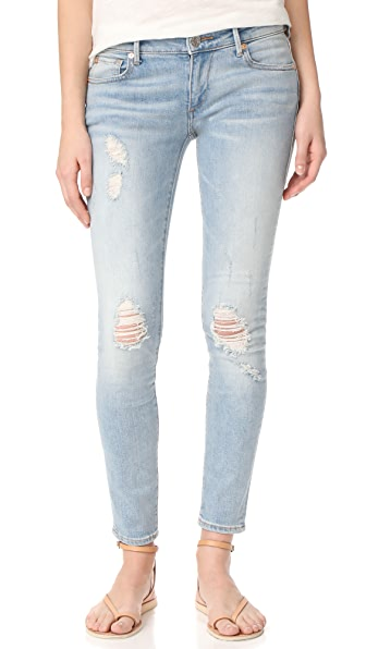 True Religion Casey Low Rise Super Skinny Jeans - Paperback Blue Destroyed