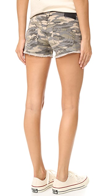 True Religion Keira Low Rise Shorts