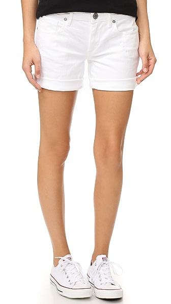 True Religion Emma Bermuda Shorts - Optic White